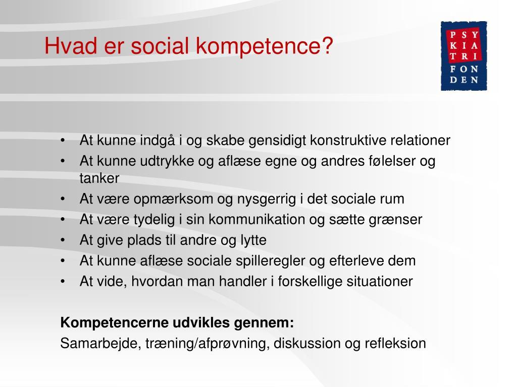 Hvad er social kompetence?