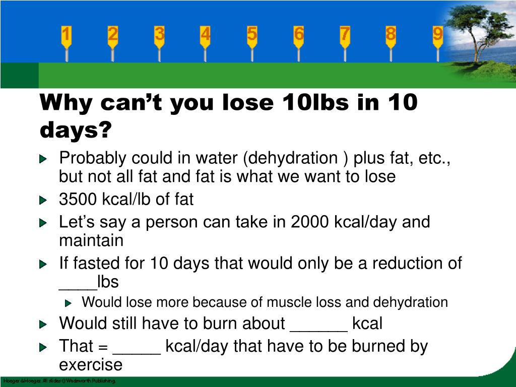 Why can't you lose 10lbs in 10 days?