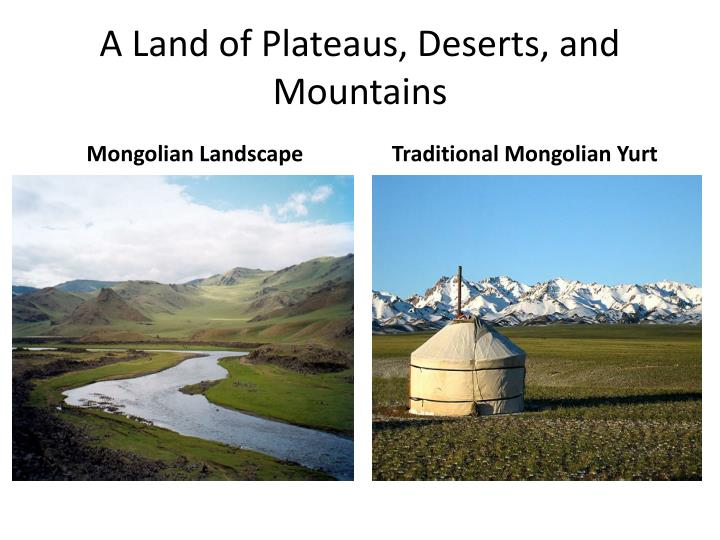 A land of plateaus deserts and mountains