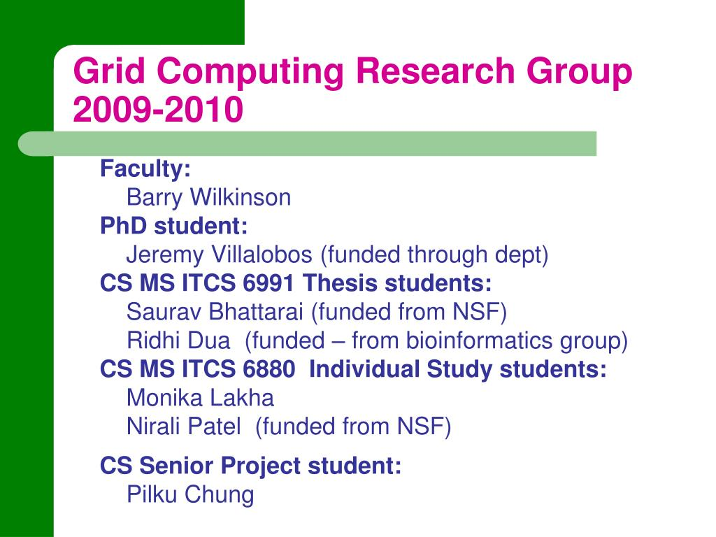 Grid Computing Research Group