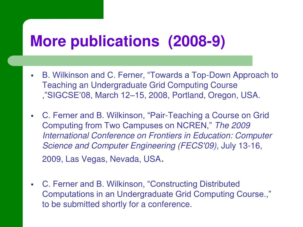 More publications  (2008-9)
