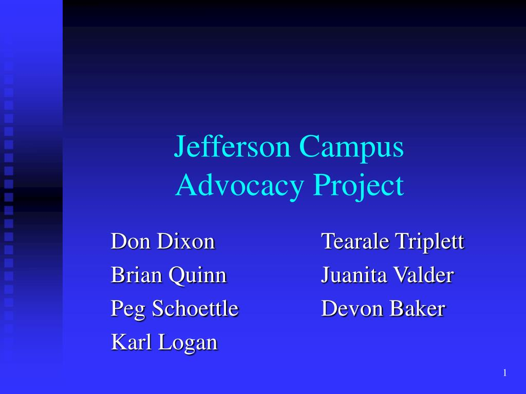jefferson campus advocacy project l.