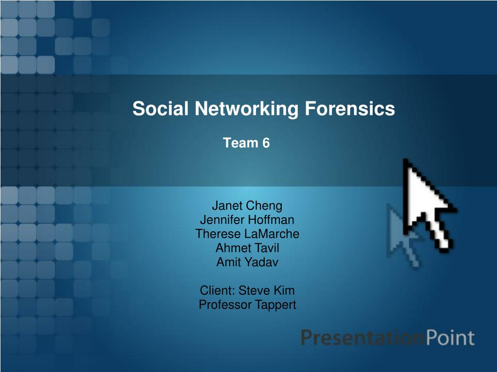 Social Networking Forensics