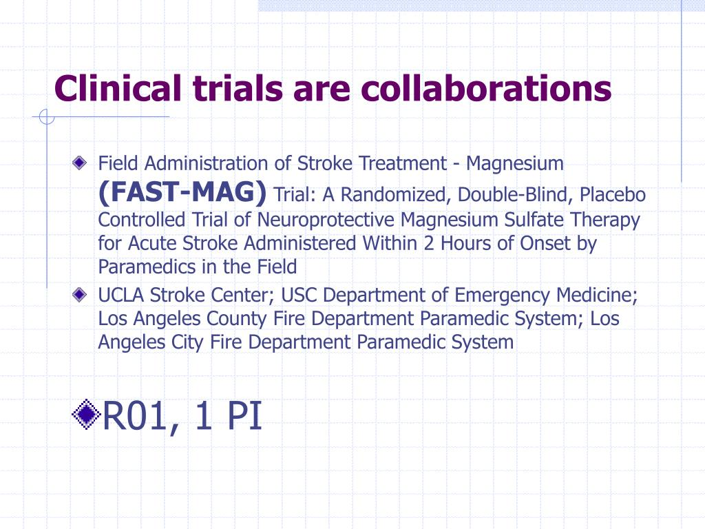 Clinical trials are collaborations