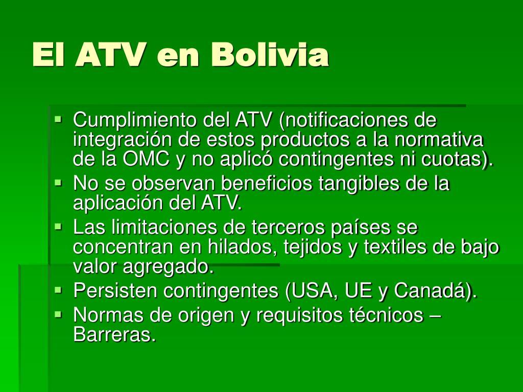 El ATV en Bolivia