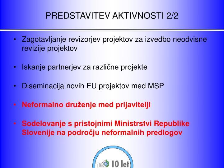 Predstavitev aktivnosti 2 2