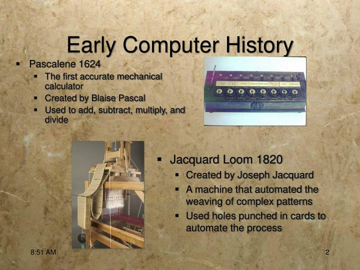 Early computer history1