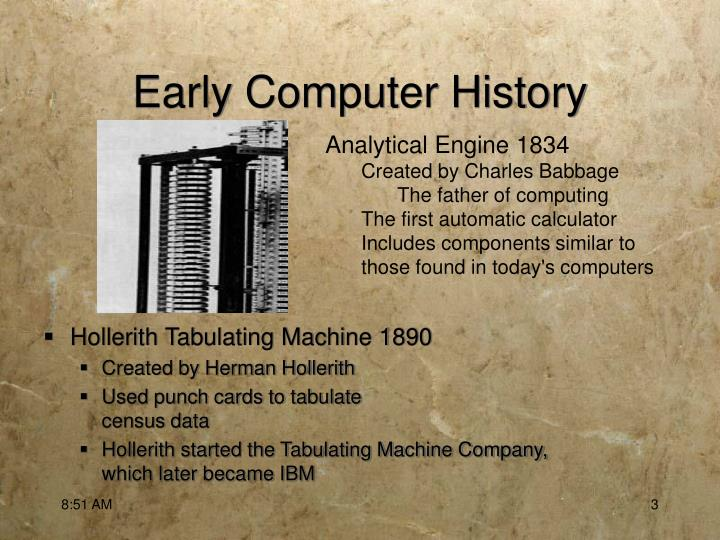 Early computer history2