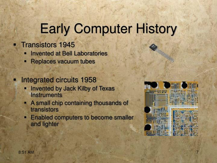 Early Computer History