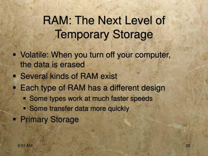 RAM: The Next Level of
