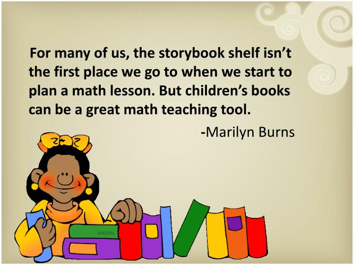 For many of us, the storybook shelf isn't the first place we go to when we start to plan a mat...