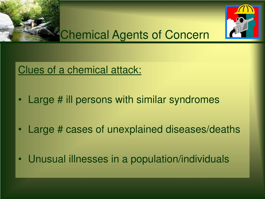Chemical Agents of Concern