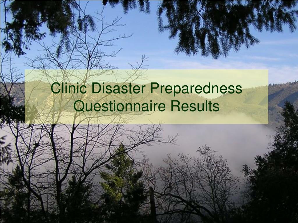 Clinic Disaster Preparedness