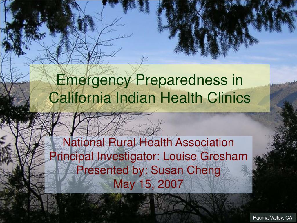 Emergency Preparedness in California Indian Health Clinics