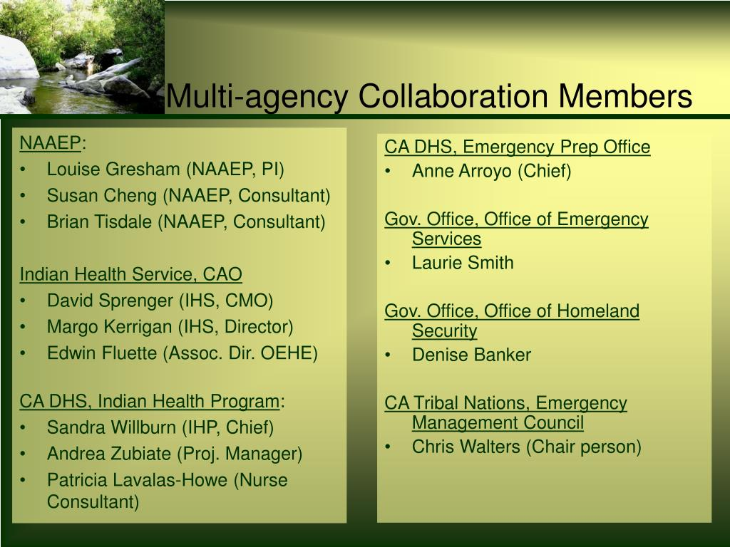 Multi-agency Collaboration Members