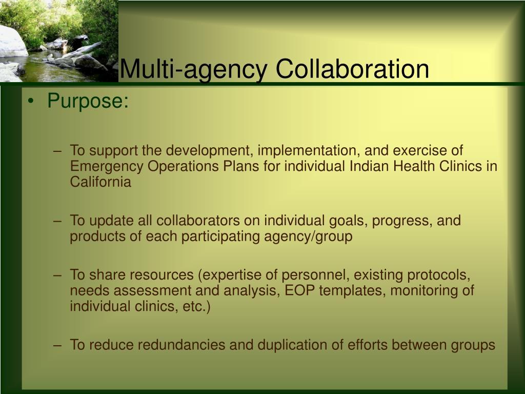 Multi-agency Collaboration