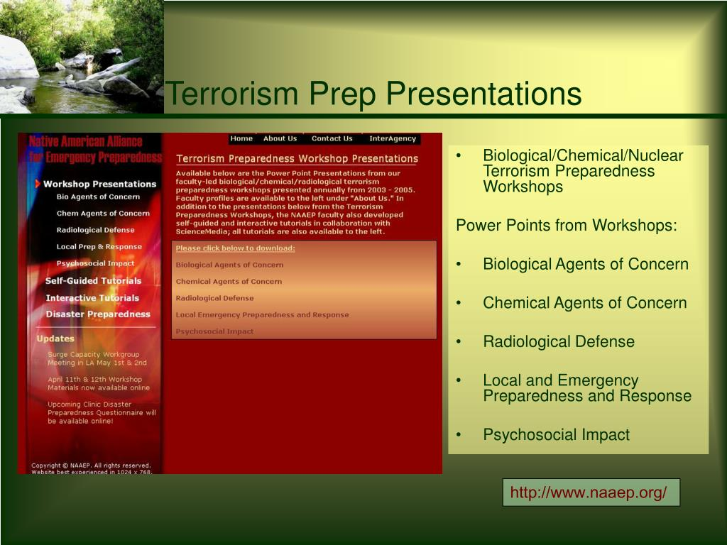 Terrorism Prep Presentations