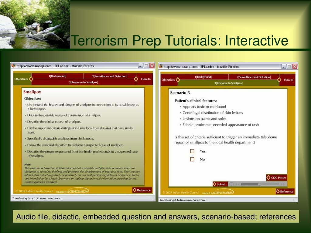 Terrorism Prep Tutorials: Interactive