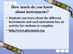 how much do you know about instruments