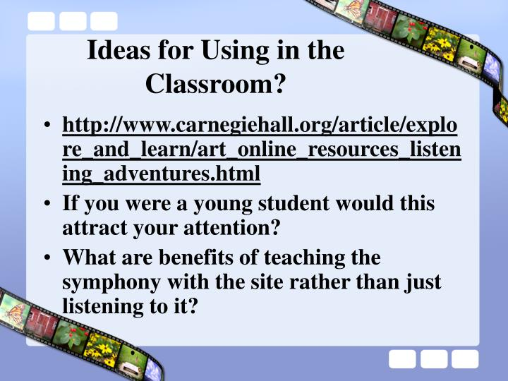 Ideas for Using in the Classroom?