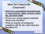 ideas for using in the classroom