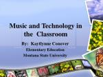 music and technology in the classroom