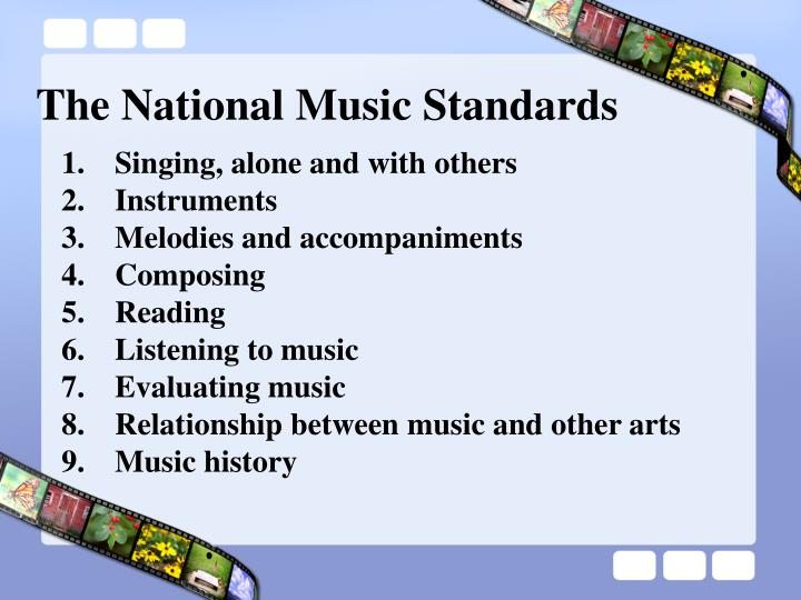 The National Music Standards