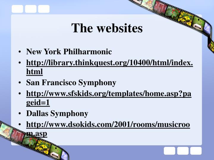 The websites