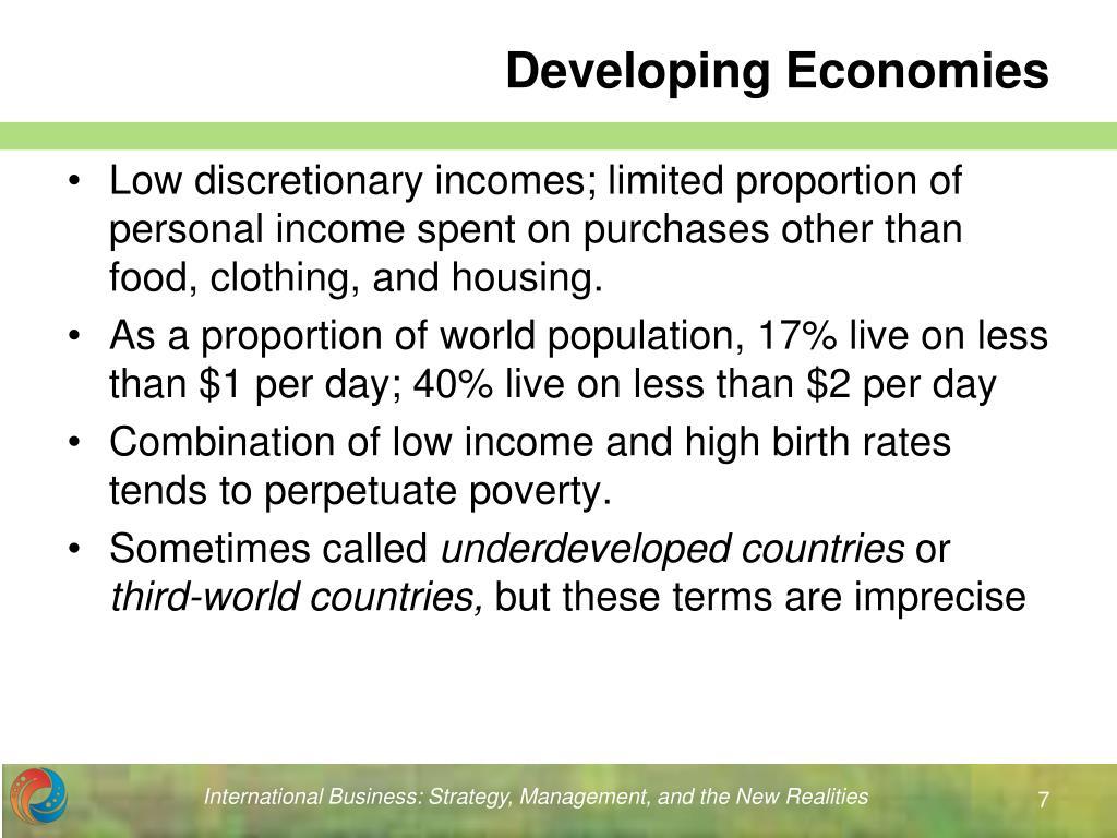 Developing Economies