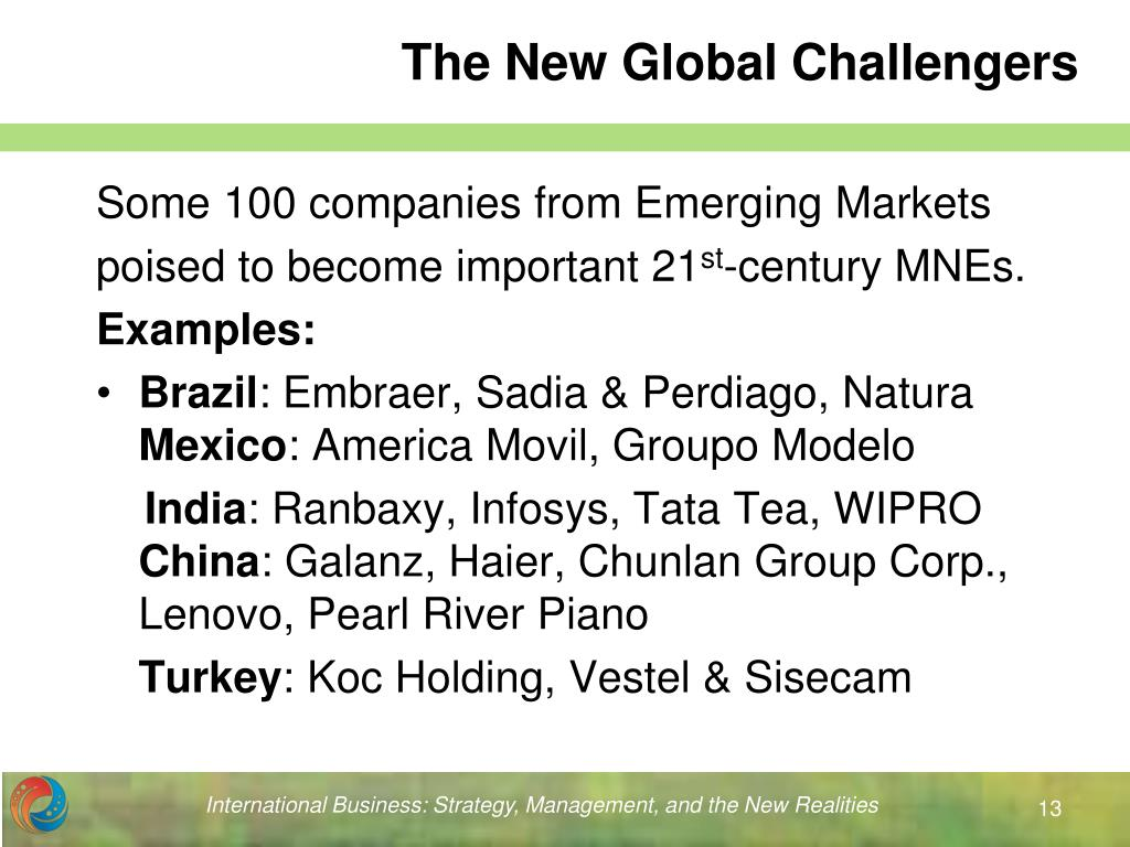 The New Global Challengers