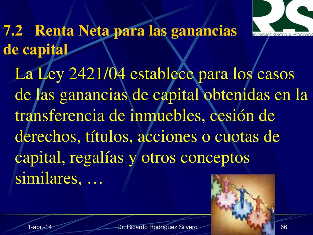 7.2Renta Neta para las ganancias