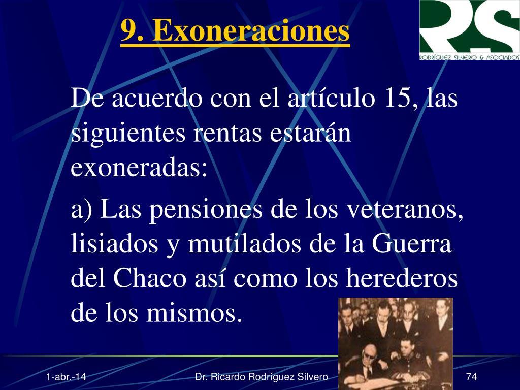 9. Exoneraciones