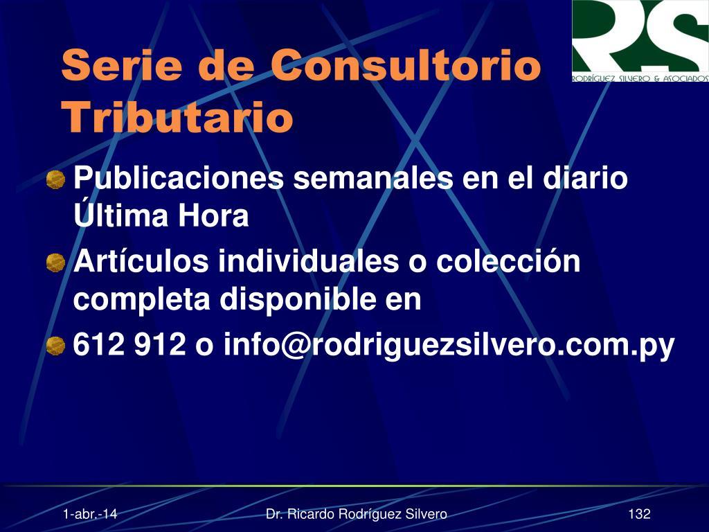 Serie de Consultorio