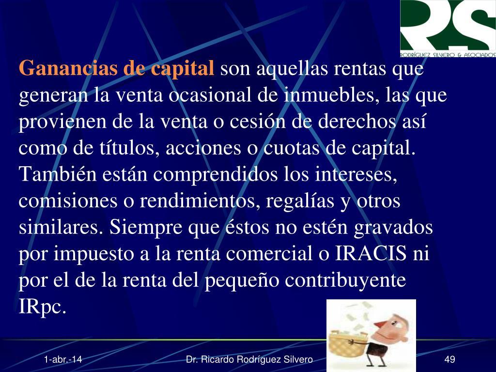 Ganancias de capital