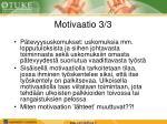 motivaatio 3 3