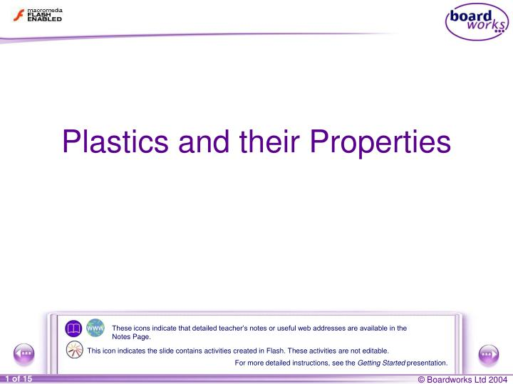 Plastics and their properties