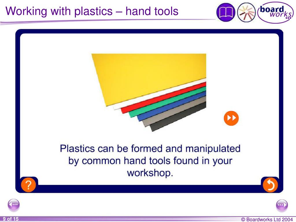 Working with plastics – hand tools