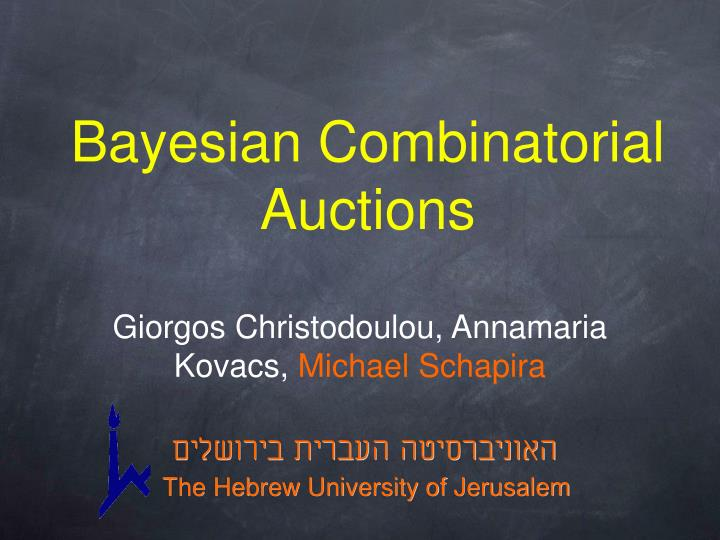 bayesian combinatorial auctions n.