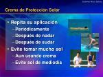 crema de protecci n solar
