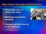 motor vehicle heat safety parked vehicles
