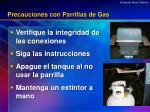 precauciones con parrillas de gas