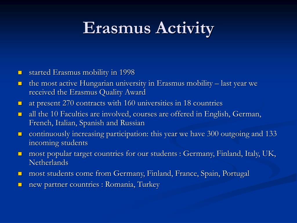 Erasmus Activity