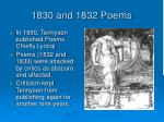 1830 and 1832 poems