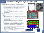 roadmap for physical implementation qor