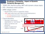 roadmap of reliability impact of dynamic reliability management