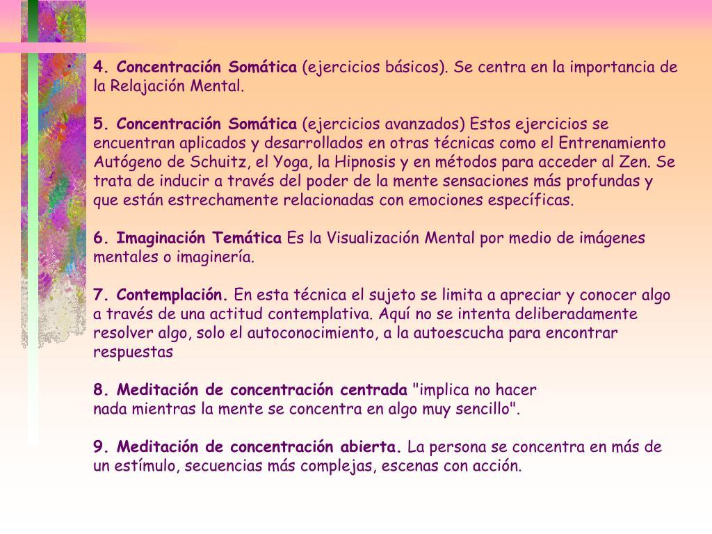 4. Concentración Somática