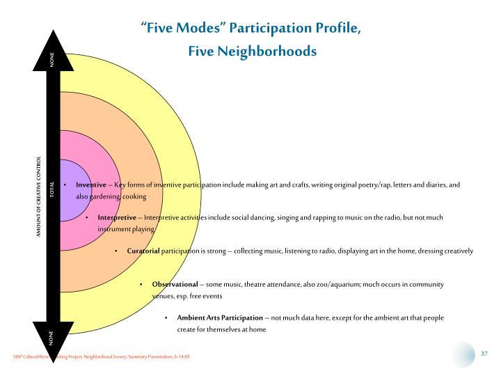 """""""Five Modes"""" Participation Profile,"""