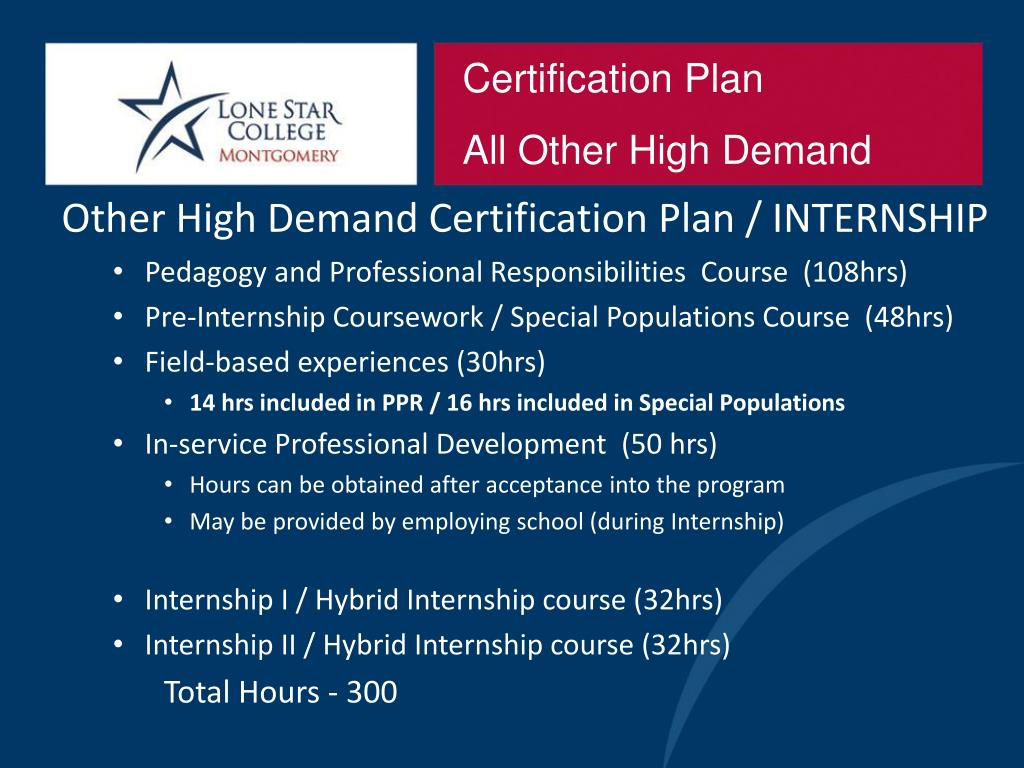 Certification Plan