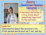 genre nonfiction personal narrative