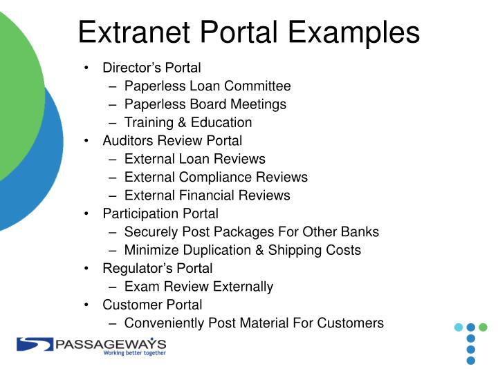 Extranet Portal Examples